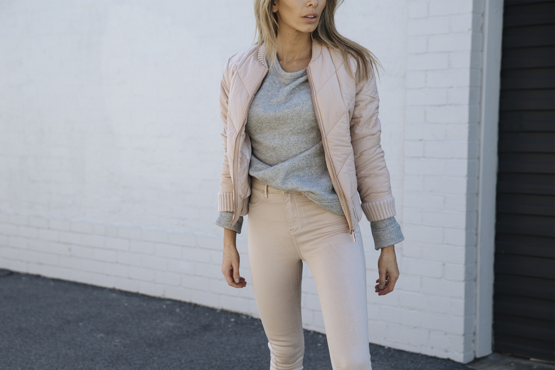 new fashion, Diamond Quilt Bomber, Exposed Seam Sweater, Candy Sneaker, High Waist Skinny Jeans, nadia bartel